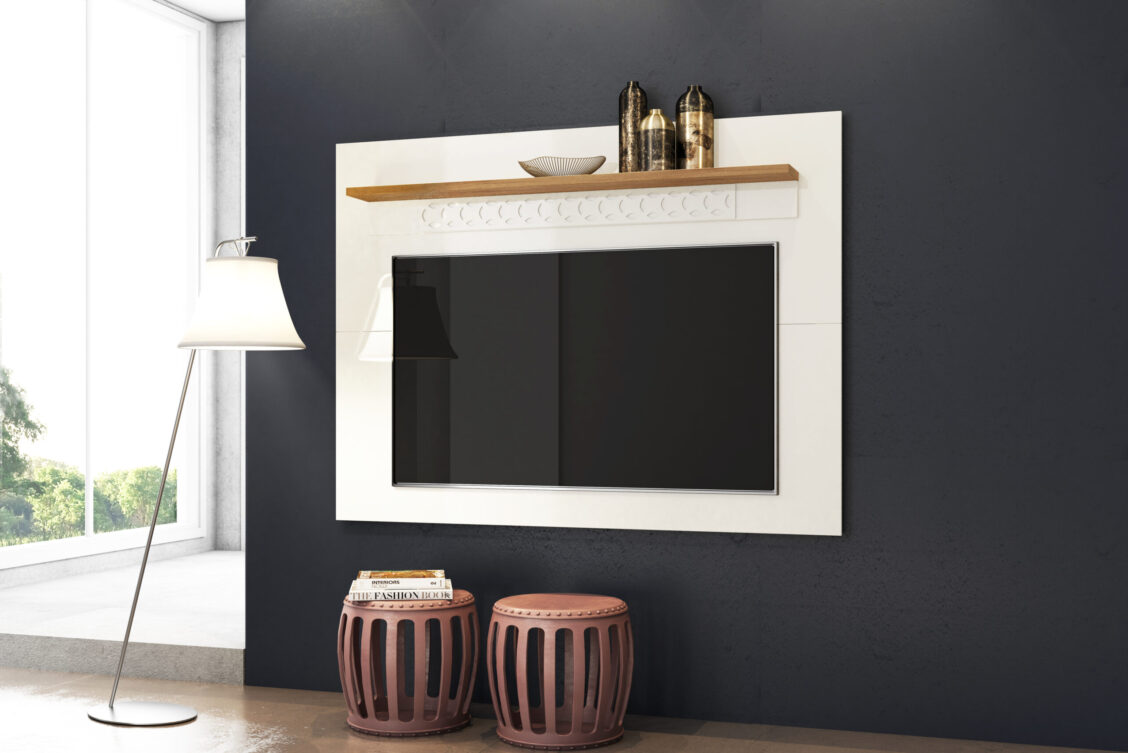 Painel Win New - Off White e Coral - Ambiente (2)
